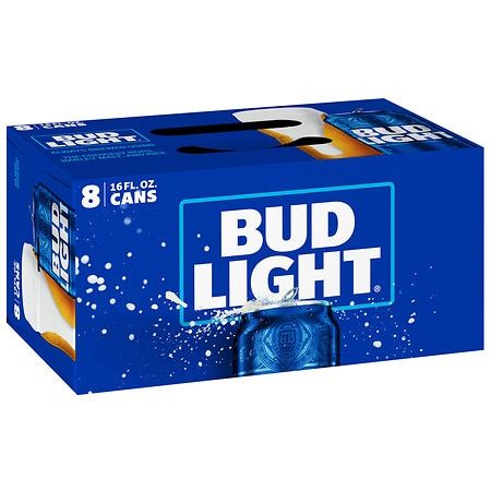 Bud Light Beer - 16 oz. x 8 pack