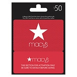 Macy's Real Time Snap $50 Gift Card