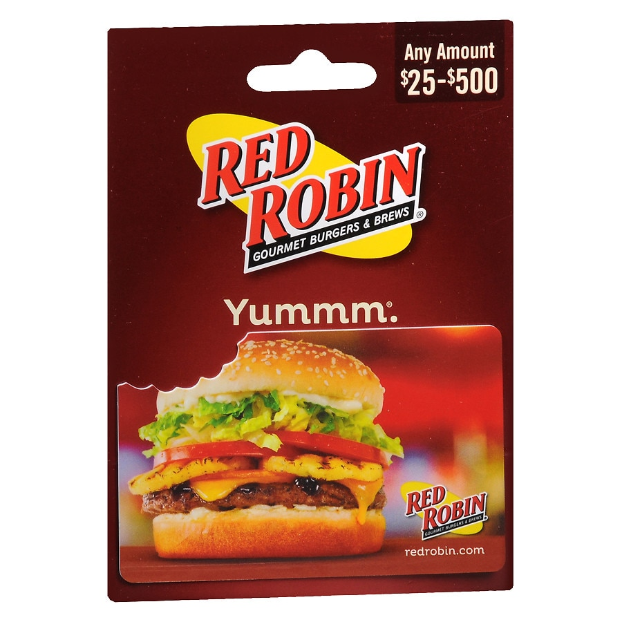 picture about Red Robin Printable Coupons referred to as Crimson Robin Non Denominational Reward Card Walgreens
