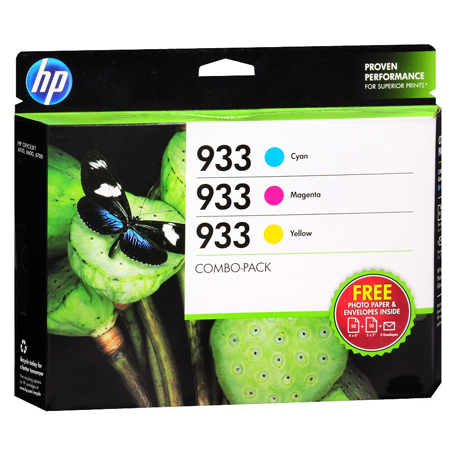 HP Ink Cartridge 933 Cyan, Magenta, Yellow