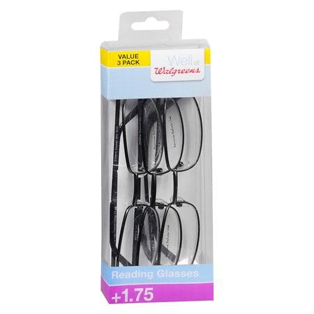 Walgreens Reading Glasses +1.75 - 3 ea