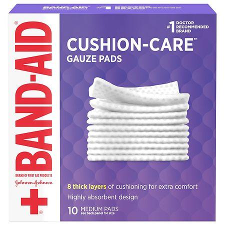 Band-Aid First Aid Gauze Pads Medium (3 Inch x 3 Inch) - 10 ea