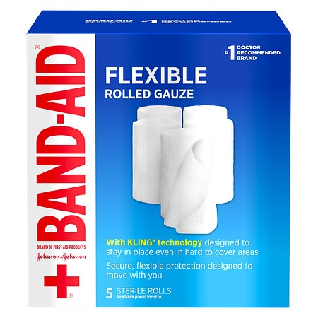 Band-Aid First Aid Covers Kling Rolled Gauze Medium - 5 ea