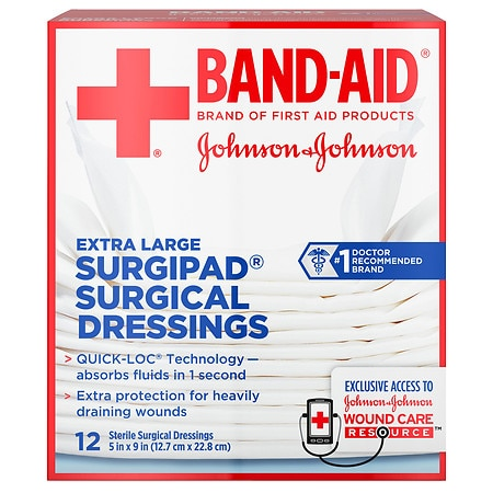 Band-Aid Surgipad Surgical Dressing Extra Large - 12 ea