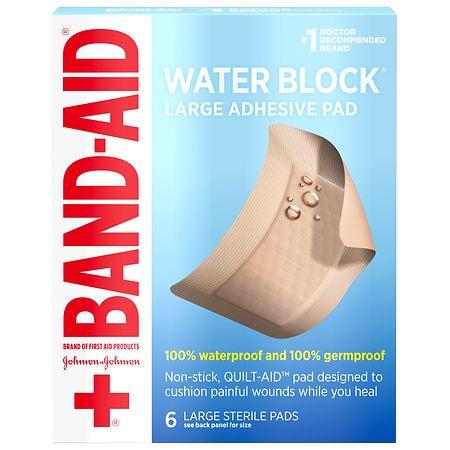 Band-Aid Waterproof Gauze Pad Large - 6 ea