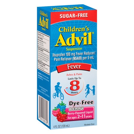 Children's Advil Ibuprofen Fever Reducer/Pain Reliever Oral Suspension Berry - 4 fl oz