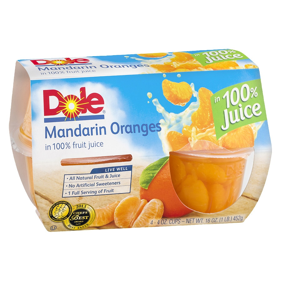 e52bc89b0bf18d Dole Fruit Bowl Mandarin Oranges4.0 oz x 4 pack