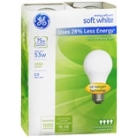 GE Soft White Halogen 53 Watt