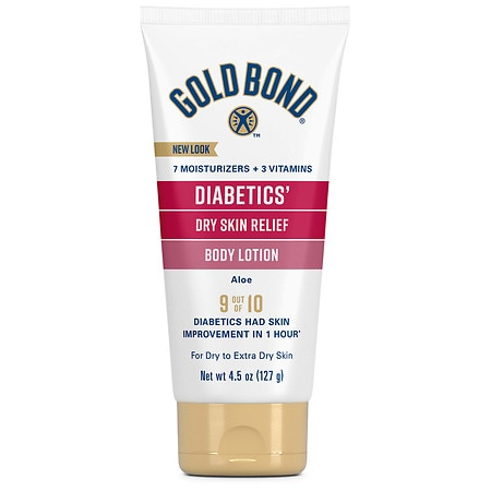 Gold Bond Ultimate Diabetic Dry Skin Relief Lotion Fragrance Free 4.5 Oz.