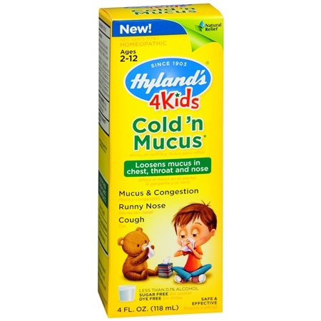 Hyland's Kids Cold and Mucus - 4 oz.