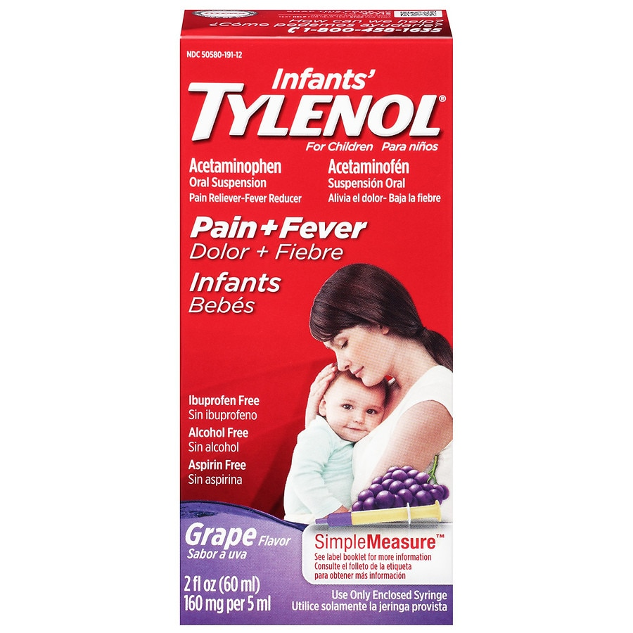 Suspending Little Kids Can Do More Harm >> Children S Tylenol Pain Fever Acetaminophen Oral Suspension Grape