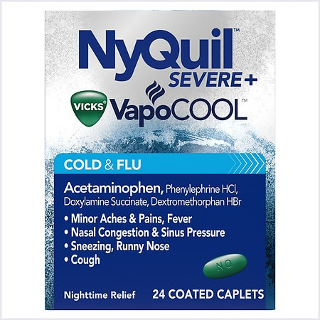 Vicks Nyquil Severe Cold and Flu Caplet - 24 ea