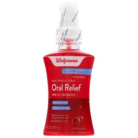 Walgreens Oral Relief Spray Cherry - 6 fl oz