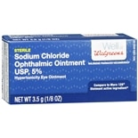 Walgreens Sodium Chloride Ophthalmic Ointment