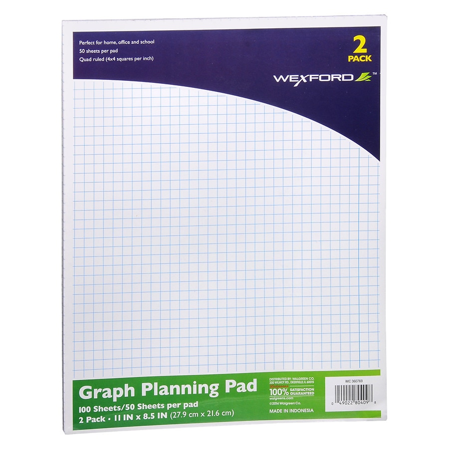 wexford graph plan pad walgreens