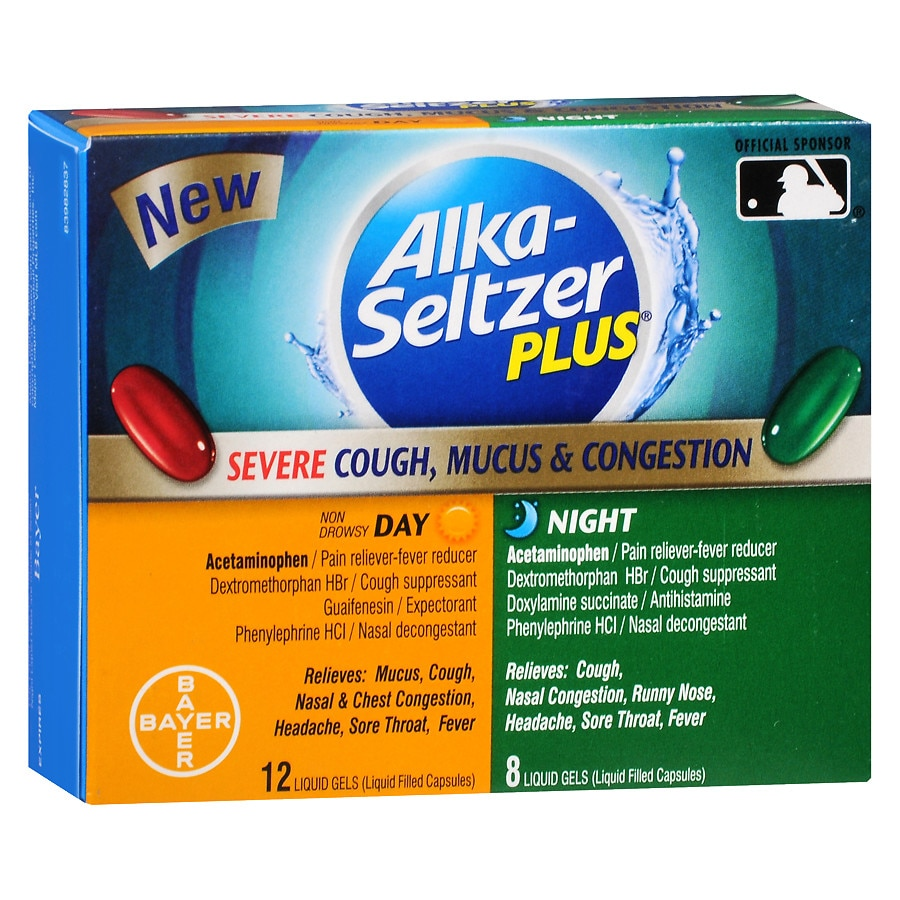 Alka-Seltzer Plus Severe Cough, Mucus, & Congestion, Day & Night