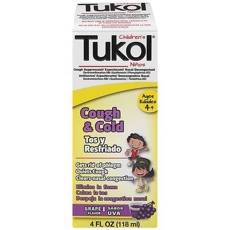 Tukol Children's Cough & Cold Syrup Grape, Grape - 4 oz.