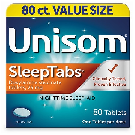 Unisom SleepTabs, Nighttime Sleep-Aid Tablets - 80 ea