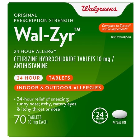Walgreens Wal-Zyr 24 Hour Allergy Tablets -
