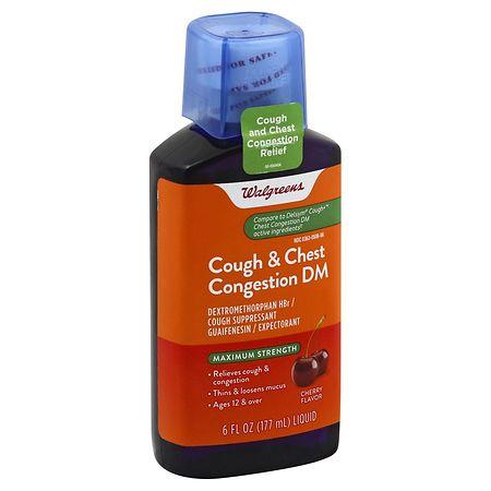Walgreens Cough & Chest Congestion DM Cherry - 6 fl oz