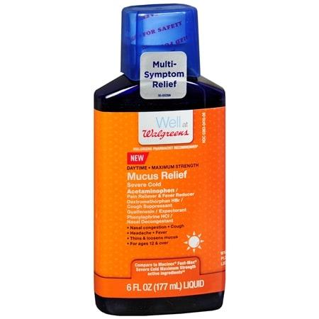 Walgreens Mucus Relief Severe Cold Daytime, Liquid - 6 fl oz
