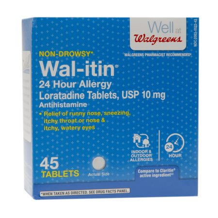 Walgreens Wal-itin Non-Drowsy 24 Hour Allergy Relief