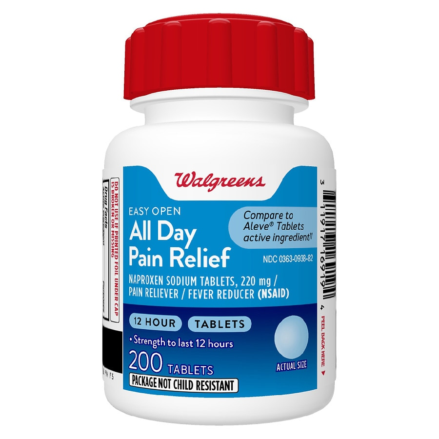 walgreens all day pain relief tablets easy open2000 ea - Is Walgreens Open On Christmas Eve