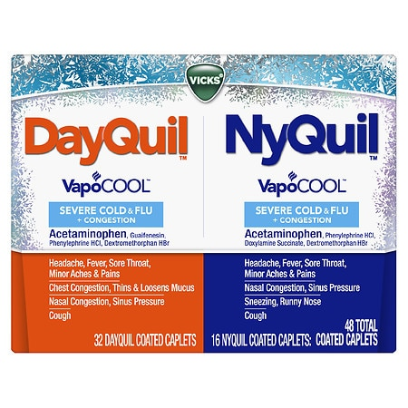 Vicks Dayquil Nyquil Severe Cold & Flu & Nighttime Relief - 48 ea