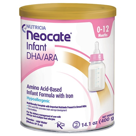 Nutricia Neocate Infant DHA/ARA, Amino Acid Based with Iron Powdered Infant Formula Unflavored, 0-12 Months - 14.1 oz.