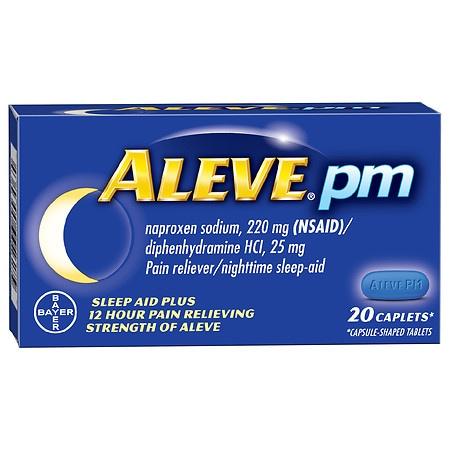 Aleve PM Pain Reliever, Nighttime Sleep-Aid Caplets - 80 ea