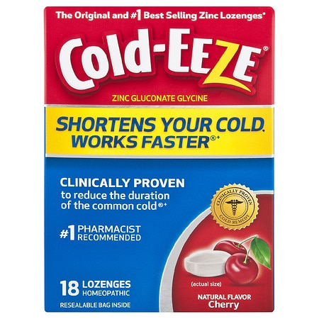 Cold-Eeze Cold Remedy Lozenges Cherry - 18 ea