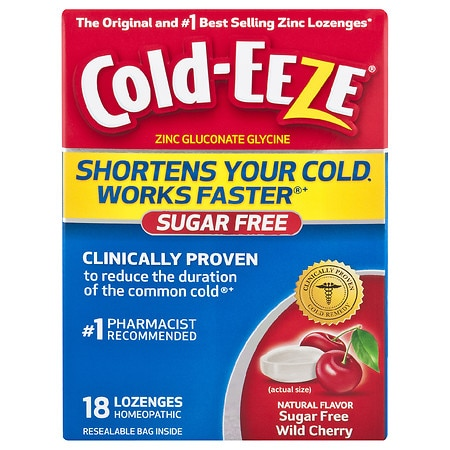 Image of Cold-Eeze Cold Remedy Lozenges, Sugar Free Cherry - 18 ea