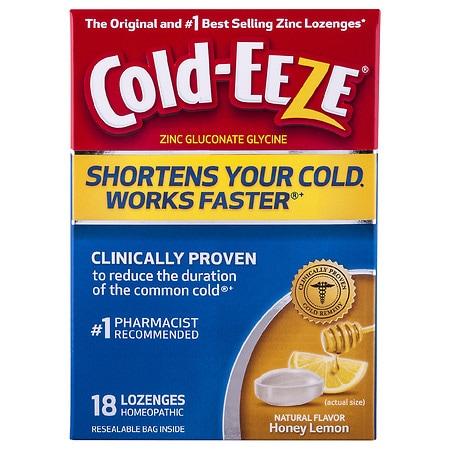 Image of Cold-Eeze Cold Remedy Lozenges Honey Lemon - 18 ea