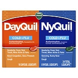 Vicks Dayquil Nyquil Cold & Flu Nighttime Relief & Multi-Symptom Relief Liquicaps