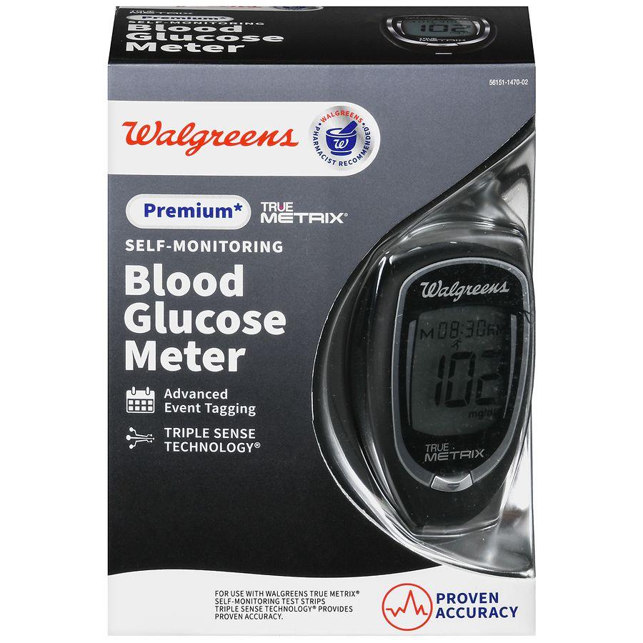 Walgreens True Metrix Blood Glucose Meter Black Walgreens