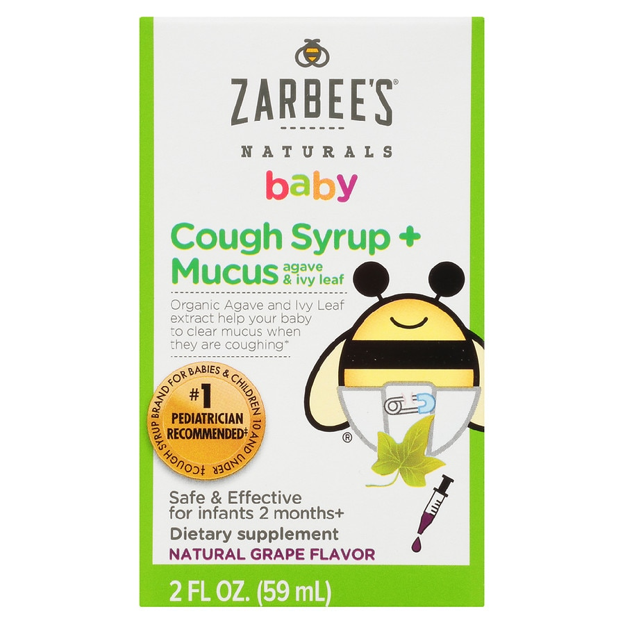ZarBee's Naturals Baby Cough Syrup + Mucus Reducer Grape