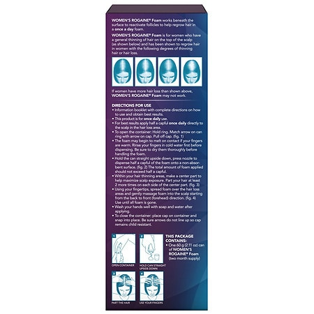 Womens Rogaine Minoxidil Hair Thinning Loss Treatment Foam 2