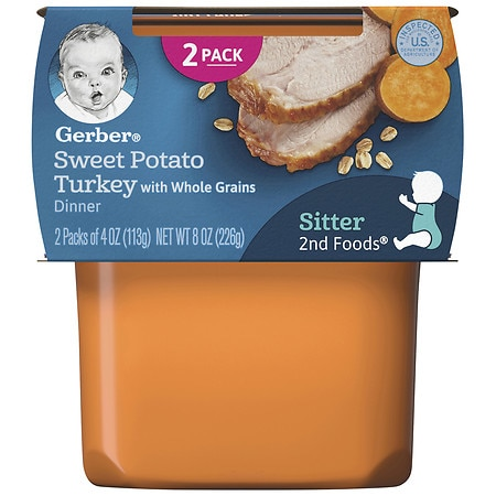 Gerber 2nd Foods Baby Food Sweet Potato & Turkey - 7 oz.