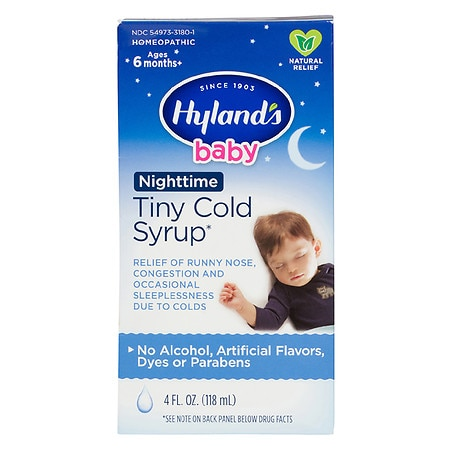 Hyland's Nighttime Cold Syrup - 4 fl oz