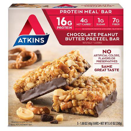 Atkins Advantage Meal Bars Chocolate Peanut Butter Pretzel - 1.7 oz. x 5 pack