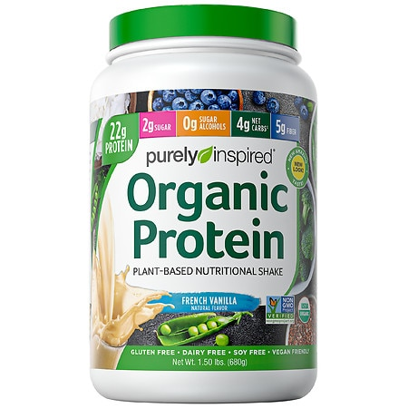 Purely Inspired 100% Plant-Based Protein Nutritional Shake French Vanilla - 1.5 lbs