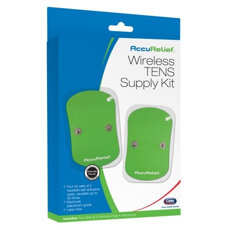 Image of AccuRelief Wireless Remote TENS Supply Kit Replacement Pads - 4 pr