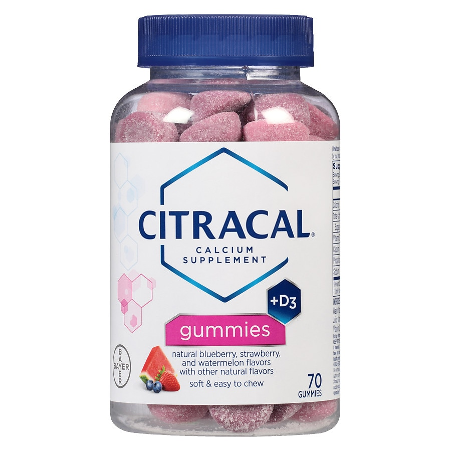 Citracal Calcium Gummies With Vitamin D3 Assorted Flavors Walgreens Wellness Gummy Kids 70 Product Large Image