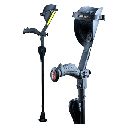 Ergobaum Royal Shock Absorber Forearm Crutches 5 Ft To 6 Ft 6 Inches 1 Pr