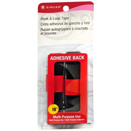 Singer Adhesive Back Hook & Loop 18 Inch - 1 ea