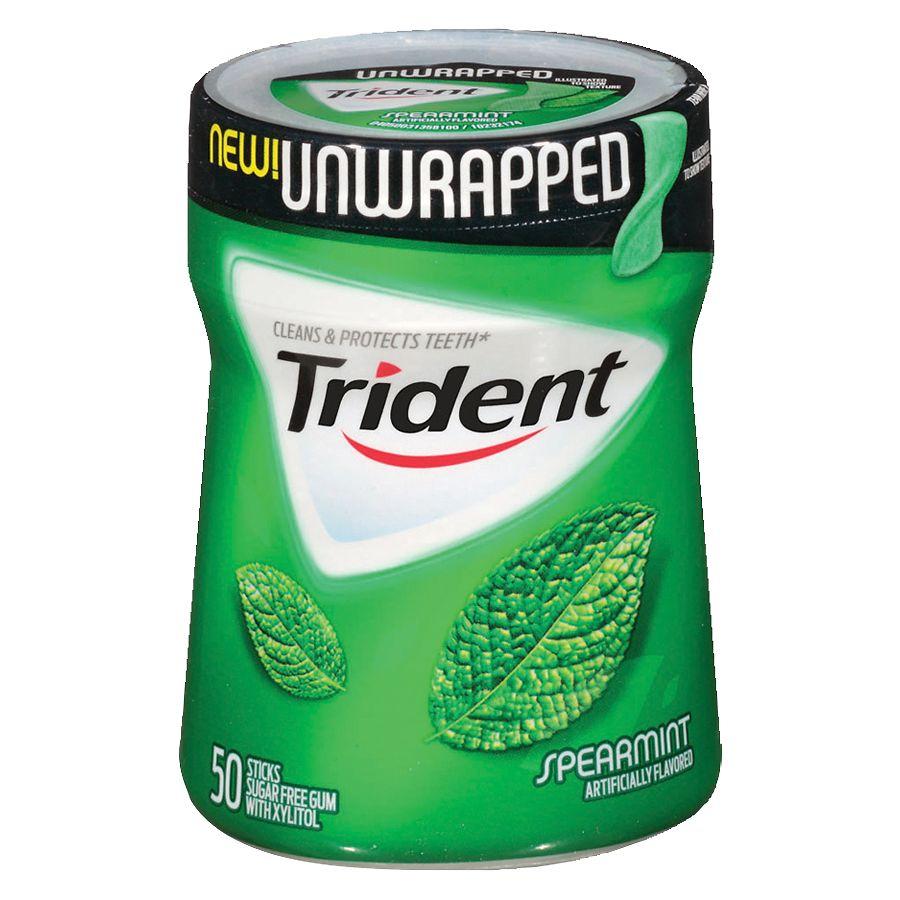 Trident Unwrapped Sugar Free Gum Spearmint Walgreens