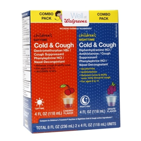 Walgreens Children's Daytime/Nighttime Cold & Cough Medicine Cherry - 2 ea x 2 pack