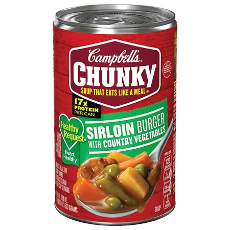 Campbell's Chunky? Healthy Request? Sirloin Burger with Country Vegetables Soup - 19 oz.