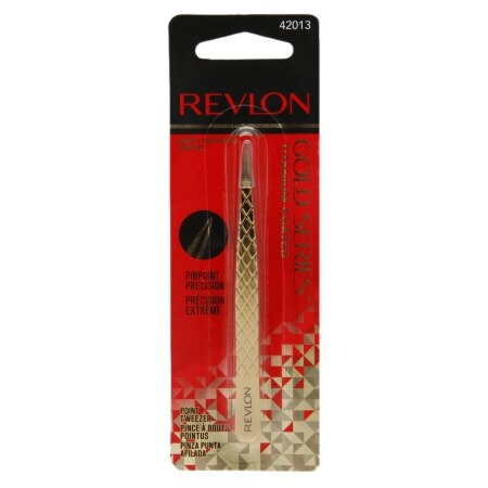 Revlon Gold Series Titanium Coated Point Tweezers - 1 ea