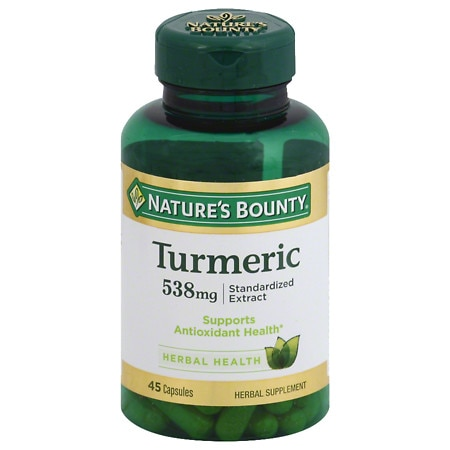 Nature's Bounty Turmeric 538mg, Capsules - 45 ea